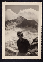 James D. Watson in the Italian Alps, August 1952 (CSHL Archives) Tags: italianalps cshl jamesdwatson
