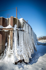 Frozen Break Wall (ssgmacdawg12345) Tags: new york winter lake snow ny ontario cold ice water wall frozen nikon break shane freezing upstate icicles garlock pultneyville d3100