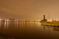 overlooking the docks (daveyboy83) Tags: water night docks photography lights still nikon slow shot shutter quays twelve wallasey d7000