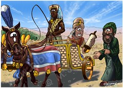 Acts 08 - Philip & the Ethiopian eunuch - Scene 02 - Reading (Martin Young 42) Tags: horses reading bible driver isaiah philip scroll chariot acts eunuch ethiopian evangelist holyspirit reins ethiopianeunuch acts82930 philiptheevangelist