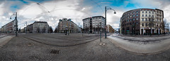 Hasselbachplatz (2013) - 360° (diwan) Tags: street city panorama canon germany geotagged deutschland eos place stitch sunday roundabout cobblestone magdeburg stadt sonntag panoramix 360° morgens tramtracks inthemorning fotogruppe ptgui kopfsteinpflaster saxonyanhalt sachsenanhalt kreisverkehr 2013 transportationhub strassenbahnschienen verkehrsknotenpunkt canoneos650d spivpano fotogruppemagdeburg geo:lon=11627407 geo:lat=52120574