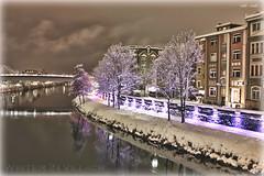 Drau (peter pirker) Tags: schnee winter snow fog night canon austria österreich nebel nacht kärnten carinthia dri hdr villach peterfoto eos550d peterpirker