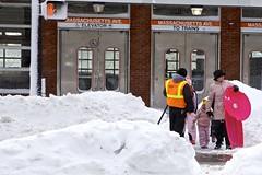 Boston Blizzard 2013 (Rebecca_Hildreth) Tags: snow bay back south end sledding prudentialcenter coply 2013 bostonblizzard