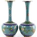 5038. Pair of Chinese Cloisonne Vases