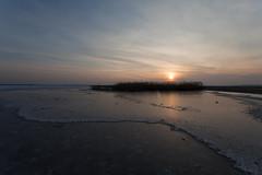 ijs - ijsselmeer (walletje-w) Tags: zonsondergang ijsselmeer lemmer ijs kruiendijs