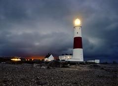 Portland Bill Lighthouse, England, UK (Beardy Vulcan) Tags: winter light england lighthouse storm night portland twilight nocturnal january explore dorset trinityhouse lightpollution portlandbill 2013