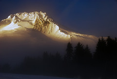Last Light (markofphotography) Tags: sunset sky mountain snow tree fog pine clouds oregon volcano peak glacier snowcapped climbing crater treeline mounthood towering hogsback timberlinelodge glaciated mounthoodnationalforest craterrock markcullen markcullenphotography