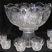 4028. Heisey Punch Bowl, Cups and Ladle