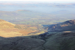 IMG_9235 (Parishes of the Buzzard) Tags: park trees winter shadow mountain mountains nature sunshine wales clouds landscape scenery stream view altitude south peak scene hills national valley shade stunning welsh february brecon beacons height corndu libanus 2013