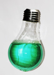 924-03 (Joe-Lynn Design) Tags: white green glass lightbulb photomanipulation
