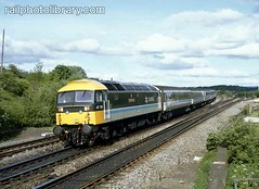 M018-00277 (railphotolibrary.com) Tags: old trees train pull scotland countryside moving europe diesel traction archive railway scotrail front junction push british br1 47c uk1 polmont 47710