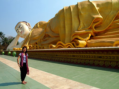 The New Outdoor Reclining Buddha (kudumomo) Tags: burma myanmar bago recliningbuddha pegu