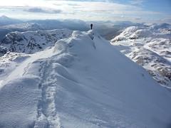 Up on Tarmarchan ridge (Space & Light) Tags: uk mountain snow ice rock scotland highlands high view walk hike ridge mountaineering summit munro tarmachan