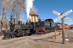 Delay Junction steam (Rocky Pix) Tags: road mountain museum colorado pix hand rocky rail f16 24mm held nikkor rockypix shaylocomotive noaqua normalzoom 2470mmf28g 180thsec wmichelkiteley blackonthetracksteamup westsidelumber12 delayjunctionsteam