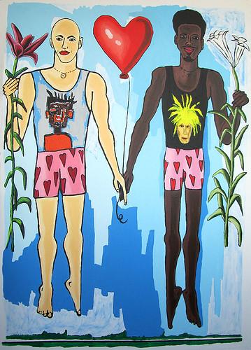 Black gay love art