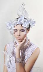 q0Jcg_pdUr0 (jullery) Tags: pink flowers wedding girls woman white girl beauty fashion female beads sweet
