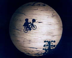 ET The Extra-Terrestrial (Trevor Coultart) Tags: stilllife moon classic film bicycle silhouette flying lego