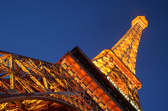 Blue hour in Paris (not) (Harry2010) Tags: blue paris lines lights lasvegas eiffeltower bluesky