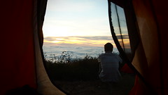 Mount Rinjani Trek (Jolie Hockings) Tags: camping sunset portrait clouds trek tent olympuspen lombok mountrinjani