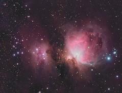 The Great Orion Nebula (Mickut) Tags: therunningman ngc1977 thegreatorionnebula lrgb reflectionnebula emissionnebula messier42 Astrometrydotnet:status=solved messier43 flt110 Astrometrydotnet:version=14400 komakallio sxvrh18 Astrometrydotnet:id=alpha20130345046667