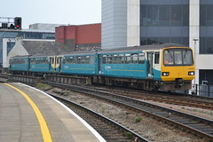 Arriva Trains Wales Class 143s 143606 & 143610 - Cardiff Central (dwb photos) Tags: diesel cardiff railway pacer dmu cardiffcentral noddingdonkeys arrivatrainswales 143606 143610