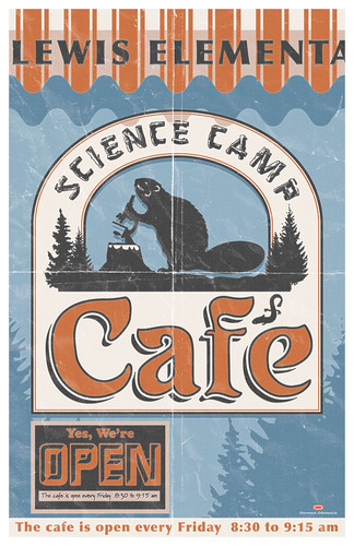 Science Camp Cafe Sign