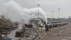 Steam Yard (ianwyliephoto) Tags: steamengine steamtrain steamdreams 35028 thecathedralsexpress clanline actonyard