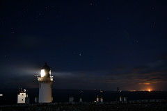 Dunnet Head Lighthouse (Red Storm Rising) Tags: lighthouse night clouds stars flow scotland highlands orkney nikon flame caithness scapa thurso dunnethead pentlandfirth mostnortherlypoint d3100