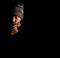 Lost in thought (Jaughn Bearen) Tags: light shadow portrait nikon 24mm alienbees d90 zyme jaughnbearen bangersenzyme