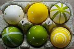 Six (Caropaulus) Tags: 6 green yellow jaune easter 50mm vert eggs six oeufs paques