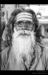 Old Devotee (Sathish_Photography) Tags: old india white black smile festival beard temple photography long with weekend photowalk priest simple hindu chennai tamilnadu sathish cwc clickers mylapore
