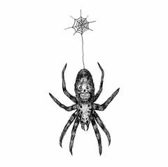 Araa Gangsta (SICKDC) Tags: ink skull spider gangster muerte araa calavera ilustracin illuatration