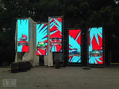 the day before (genelabo) Tags: red party summer cars rain wall palms sommer towers havana cuba slide vj led projection welcome fest pani kuba p1 munic colourfull vjing genelabo