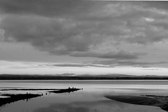 Solway Nights (Richie Rue) Tags: sunset sea blackandwhite monochrome night river landscape outdoors mono evening coast estuary nikond300
