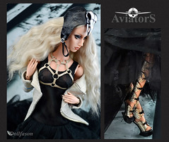 Aviators-3 (Dollfason) Tags: sybarite dolloutfit fashionfordoll fashiondoll couture collection clothes for dolls superdoll superfrock