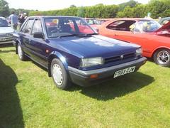 1989 Nissan Bluebird 1.6 LX (quicksilver coaches) Tags: nissan bluebird f593cjw festivaloftheunexceptional whittlebury