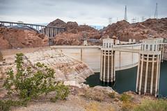 Hoover Dam and Bridge (Serendigity) Tags: dam usa hooverdam desert water bridge nevada engineering coloradoriver arizona unitedstates