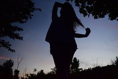Sunset Silhouette (RWDrurey) Tags: silhouette pennsylvania dslr nikon nikonphotography nikond5300 shadows summer july outdoors portrait sunset