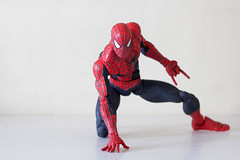 "18"" Super Poseble Spidey (TKatagiri) Tags: 8 inch spiderman 2 movie amazing ultimate super poseable action figure"