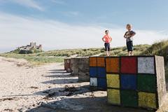 Bamburgh Beach Puzzle (Danny Birrell) Tags: canon canon6d sigma35mm14art castle beach sky sand bamburgh rubikscube