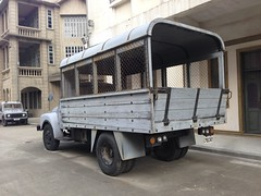Replica police Bedford TJ lorry (Yanamation) Tags: xiqiao dreamworks national arts film studios   guangdong foshan  timetravelling 50 60 hong kong nostalgia  backlot     police vehicle bedford lorry vauxhall prop fight final man ip