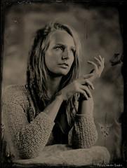 """Eva"" (patrickvandenbranden) Tags: 10inch 18x24 8x10 narita alternativeprocess ambrotype bw beaut collodion collodionhumide feminity femme fineart hermagis largeformat noiretblanc pictorialist portrait studio wetplate woman vintage blackandwhite artisawoman"