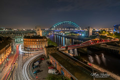 Newcastle bridges (Mike Ridley.) Tags: longexposure lighttrails nightphotography cityscape sonya7r2 mikeridley