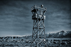 Watchtower (MarcCooper_1950) Tags: manzanar interment concentration camp wwii tower guardtower watchtower california historic monument japaneseinternment nikin d810 nikon2470mm hdr