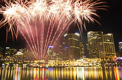 Fireworks at the Harbour. (Mark Willemse) Tags: sydney fireworks darling harbour night shot hdr exposures long