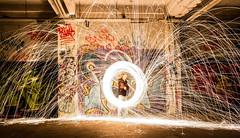LIGHTPAINTING 3 (pj lens) Tags: 550d canon lightpainting 2014 texture abstrait rond motif cercle organique fond noir surraliste bordure photo calme minimalisme