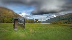 Large or Small ? (kevinmcnair) Tags: scotland balquhidder stirlingshire callander lochvoil lochdoine scottishlochs landscapeart trees monachyle stainlesssteel stainlesssteelartwork craigruie robroy robroymacgregor