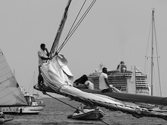 Almost street photography ...... (Chris Jadoul) Tags: sea nb bw monochrome chris jadoul sailboat cruise ship sailor