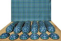 Jewish kippot yarmulkes. Robertson ancient tartan. Made by DesignKippah.com (DesignKippah) Tags: jewish kippah kippas kippahs kippot yarmulke barmitzvah tartan robertson