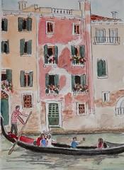 Gondola on the Canal (joantav1) Tags: venice gondolas canals